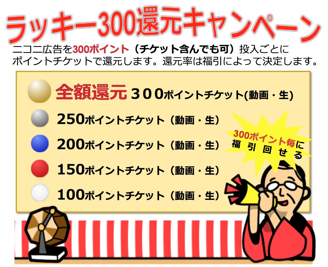 ラッキー300