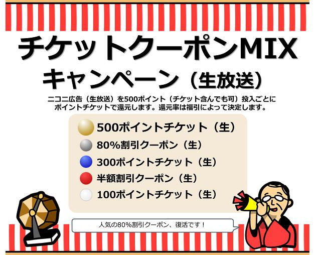 チケットクーポンMIXキャンペーン